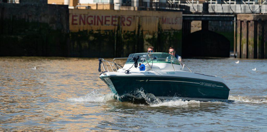 Boating on the tidal Thames