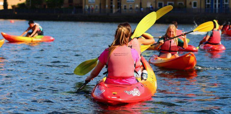 Kayaking at Docklands Watersports Centre
