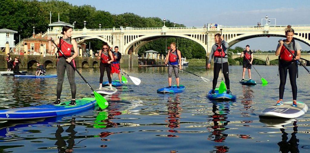 Stand up paddleboarding at Active 360 Paddleboarding
