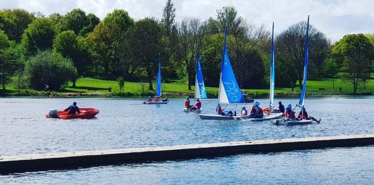 Sailing lessons at Danson Park Adventures