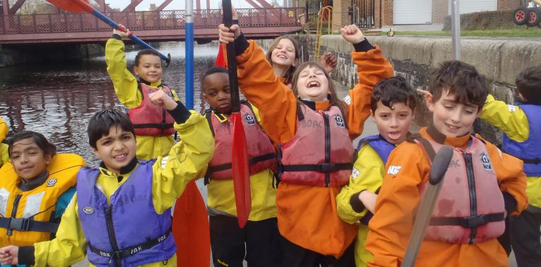 Children at the Shadwell Basin Club