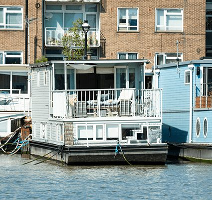 Houseboats come in all shapes and sizes.